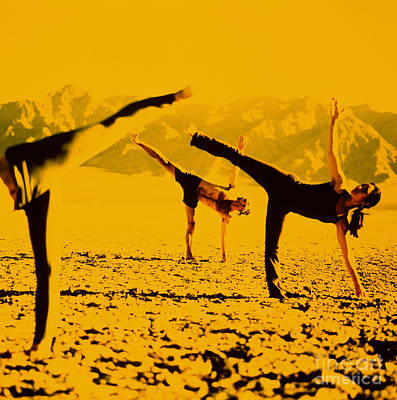 Photograph - Yoga Half Moon Posture by James Wvinner