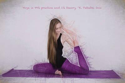 Yoga Yogi Pose Art Print by David Haskett