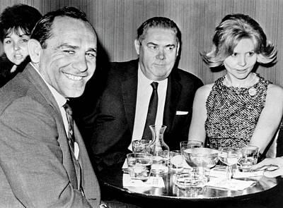 Yogi Berra Photograph - Yogi Berra At Toots Shors by Underwood Archives
