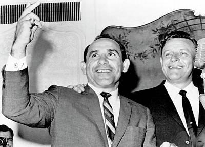 Yogi Berra Yankee Manager Art Print by Underwood Archives