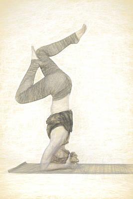 Photograph - Yogi In Yoga Meditation Woman by David Haskett