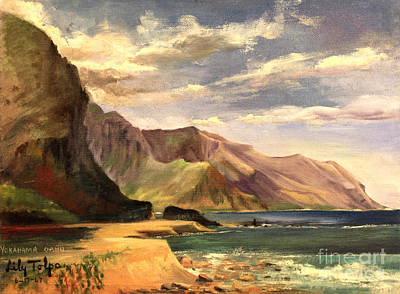 Painting - Yokahama Bay Oahu Hawaii - 1960's by Art By Tolpo Collection