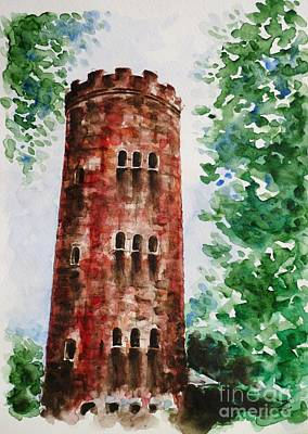 Yokahu Tower Painting - Yokahu Tower  by Zaira Dzhaubaeva