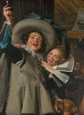 Ramp Painting - Yonker Ramp And His Sweetheart by Frans Hals