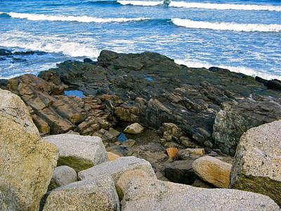 Photograph - York Beach Shoreline by Denise Mazzocco