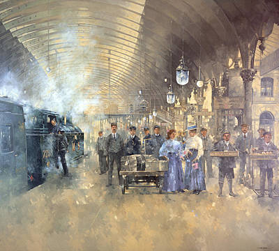 Railway Station Painting - York Railway Station  by Peter Miller