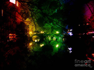 Ancestor Art Mixed Media - York River Night Abstract by Neil Finnemore