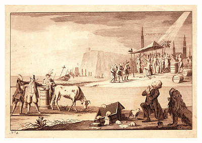Teapot Drawing - York Town, En Sanguine Engraving Shows America Receiving by French School