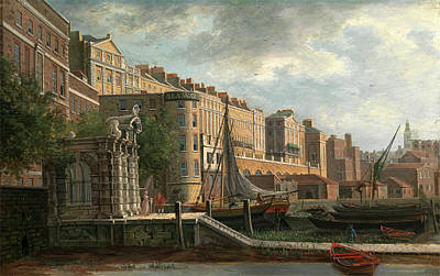 Ramp Painting - York Water-gate And The Adelphi, Daniel Turner by Litz Collection