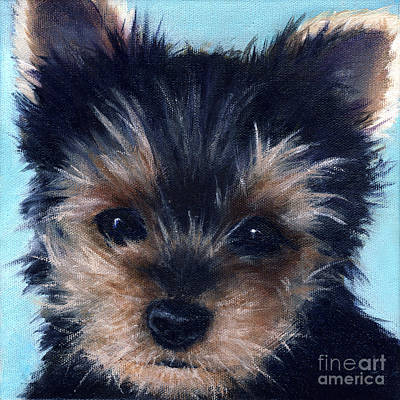 Painting - Yorkie by Vickie Sue Cheek