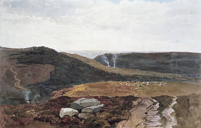 Heather Painting - Yorkshire Fells, C.1840 by Peter de Wint