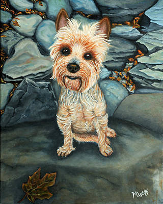 Painting - Yorkshire Terrier  by Michelle Joseph-Long