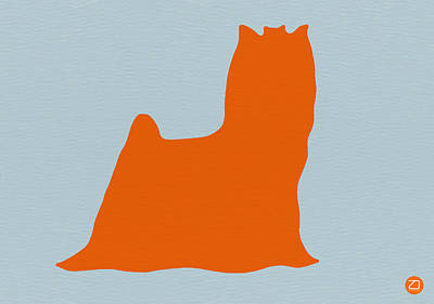 Yorkshire Terrier Orange Print by Naxart Studio