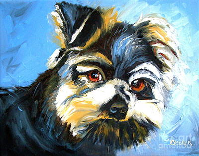 Painting - Yorkshire Terrier by Susan A Becker