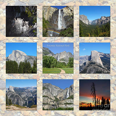 Photograph - Yosemite 3x3 Collage by Debra Thompson