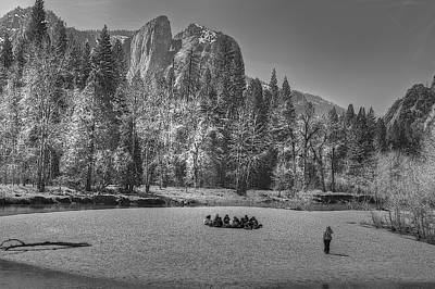 Photograph - Yosemite 4 Monochrome by SC Heffner