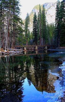 Photograph - Yosemite Bridge Reflection 2 by Theresa Ramos-DuVon