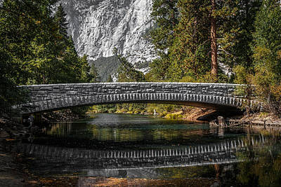 Photograph - Yosemite Bridge Reflection by Wes and Dotty Weber