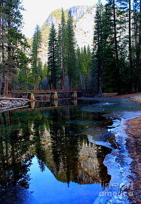 Photograph - Yosemite Bridge Reflections by Theresa Ramos-DuVon