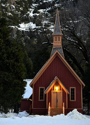 Yosemite Chapel Art Print