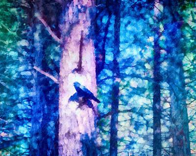 Crow Mixed Media - Yosemite Crow by Priya Ghose