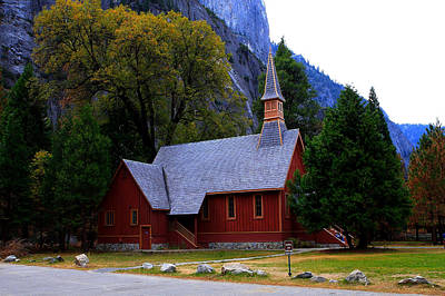 Yosemite Fall  Chapel  Art Print