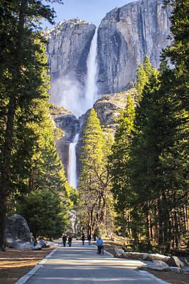 Photograph - Yosemite Falls 01 by Jim Dollar