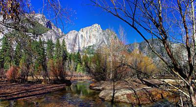 Yosemite Falls Along The Merced River Print by Scott McGuire