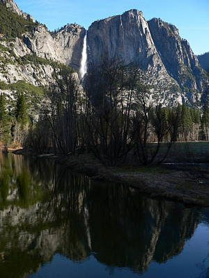Photograph - Yosemite Falls And Reflection by Jeff Lowe