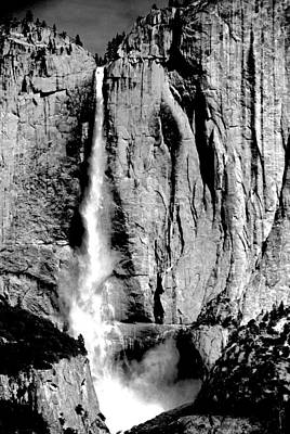Photograph - Yosemite Falls Black And White by Eric Tressler