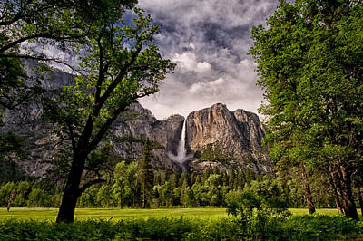 Waterfall Photograph - Yosemite Falls by Cat Connor