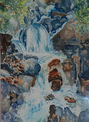 Painting - Yosemite Falls by Marilyn  Clement