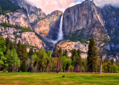 Painting - Yosemite Falls by Michael Pickett