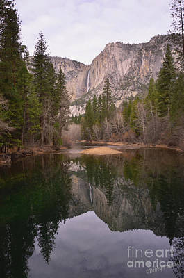 Photograph - Yosemite Falls Reflection by Debby Pueschel