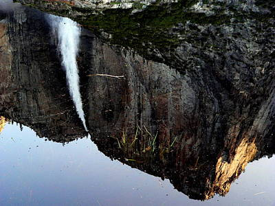 Photograph - Yosemite Falls Reflection by Jeff Lowe