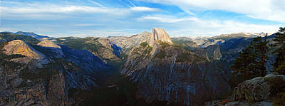 Photograph - Yosemite Glacier Point Panorama by John Haldane