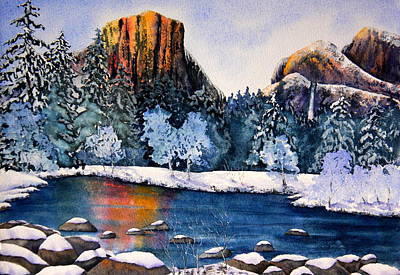 Yosemite Painting - Yosemite In Winter I by Eva Nichols