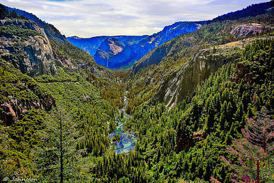 Photograph - Yosemite Looking Down The Merced River by Bob and Nadine Johnston