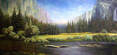 Painting - Yosemite by Loxi Sibley
