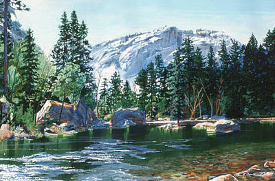 Yosemite Mirror Lake Art Print