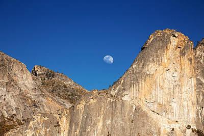 Moon Rocks Photograph - Yosemite Moonrise by Jane Rix