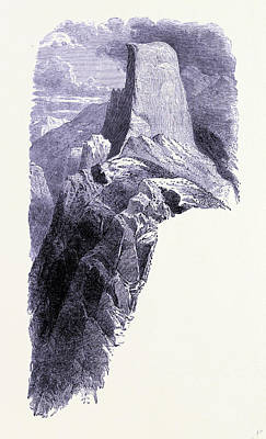 Yosemite National Park Drawing - Yosemite National Park Half Dome United States Of America by American School