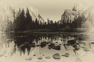 Yosemite National Park Valley View Antique Print   Art Print by Scott McGuire