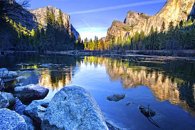Photograph - Yosemite Reflections by Julianne Bradford