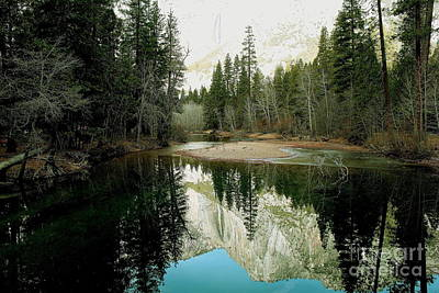 Photograph - Yosemite Reflections -landscape by Theresa Ramos-DuVon