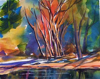 Painting - Yosemite Reflections With S.quiller by Therese Fowler-Bailey