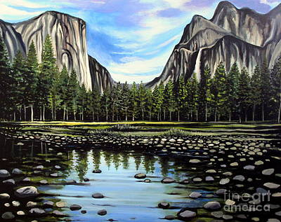 Painting - Yosemite National Park by Elizabeth Robinette Tyndall