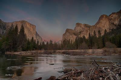 Leaning Photograph - Yosemite Sunset by Bill Roberts