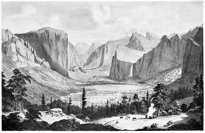 Yosemite Painting - Yosemite Valley, 1855 by Granger