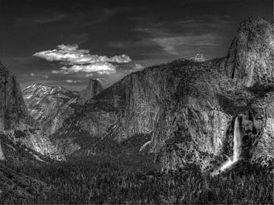 Photograph - Yosemite Valley 2 Bw by Morgan Wright
